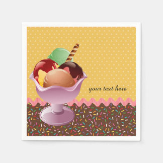 Sundae * choose background color disposable serviette
