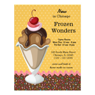 Sundae * choose background color flyer