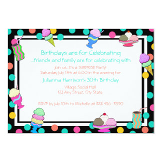 Sundae Shoppe Invite