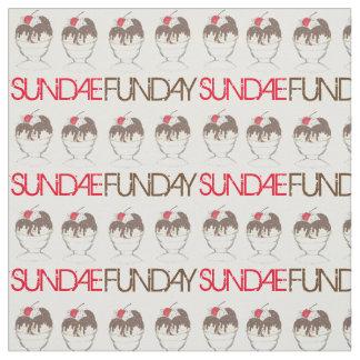 SUNDAE (SUNDAY) FUNDAY Ice Cream Hot Fudge Foodie Fabric