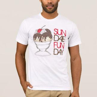 SUNDAE (SUNDAY) FUNDAY Ice Cream Hot Fudge Foodie T-Shirt