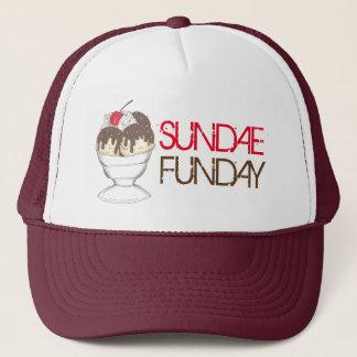 SUNDAE (SUNDAY) FUNDAY Ice Cream Hot Fudge Foodie Trucker Hat