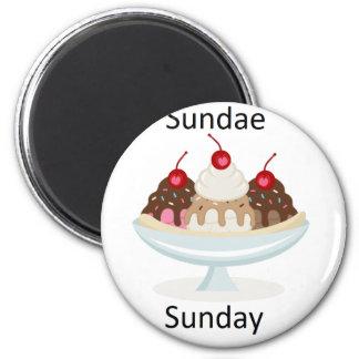 sundae sunday magnet