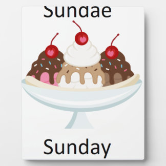 sundae sunday plaque