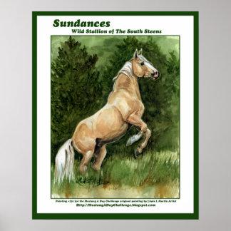 Sundances Wild Stallion of the South Steens Poster