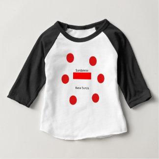 Sundanese Language And Indonesia Flag Design Baby T-Shirt
