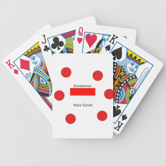 Sundanese Language And Indonesia Flag Design Bicycle Playing Cards