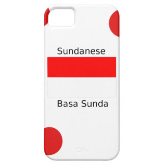 Sundanese Language And Indonesia Flag Design iPhone 5 Cases