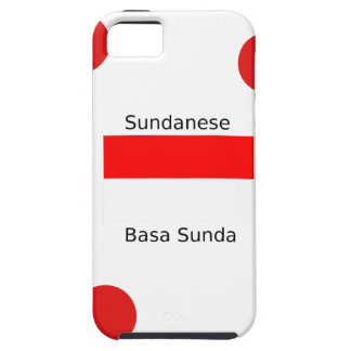 Sundanese Language And Indonesia Flag Design iPhone 5 Covers