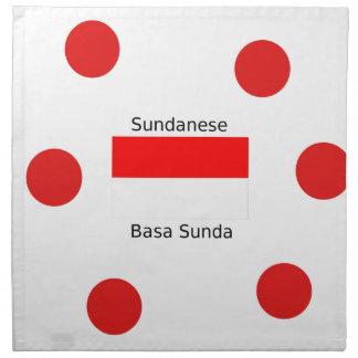 Sundanese Language And Indonesia Flag Design Napkin
