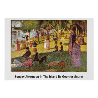 Sunday Afternoon In The Island By Georges Seurat Print