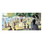 Sunday Afternoon, Island La Grande Jatte by Seurat Personalized Rack Card