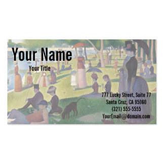Sunday Afternoon on the Island of La Grande Jatte Double-Sided Standard Business Cards (Pack Of 100)