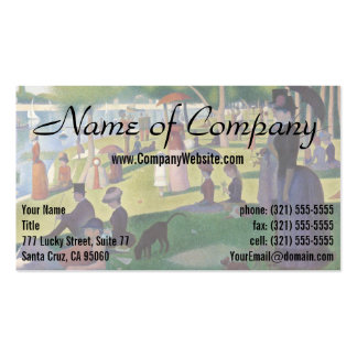 Sunday Afternoon on the Island of La Grande Jatte Pack Of Standard Business Cards