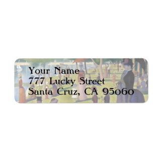 Sunday Afternoon on the Island of La Grande Jatte Return Address Label