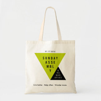 Sunday Assembly Grand Rapids Launch Date Tote Budget Tote Bag