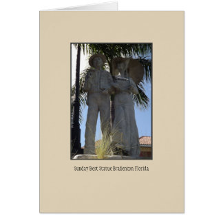 Sunday Best Statue Greeting Card