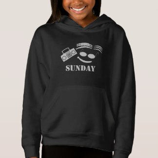 SUNDAY BLACK PULLOVER HOODIE