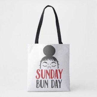 Sunday Bun Day Lazy Mom Tote