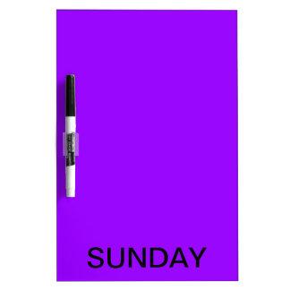 Sunday Dry Erase Board Calendar Tools