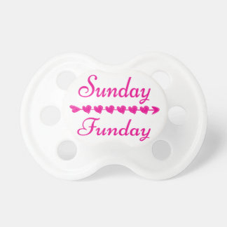Sunday Funday Cute Funny Pink Heart Dummy