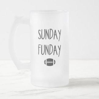 Sunday Funday Frosted Glass Beer Mug