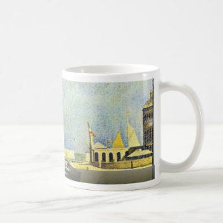 Sunday In Port-En-Bessin By Seurat Georges Coffee Mugs