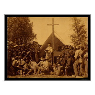 Sunday Morning Catholic Mass 1861 Poster