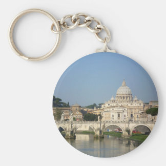 Sunday Morning in Rome Keychain