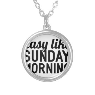 Sunday Morning Silver Plated Necklace
