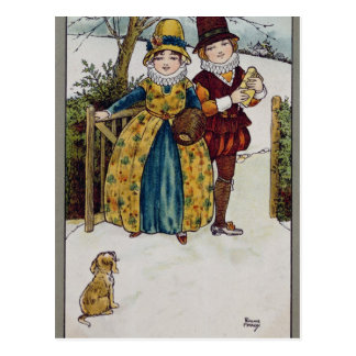 Sunday Morning, Victorian card
