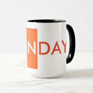 SUNDAY MUG, COFFEE TIME MUG