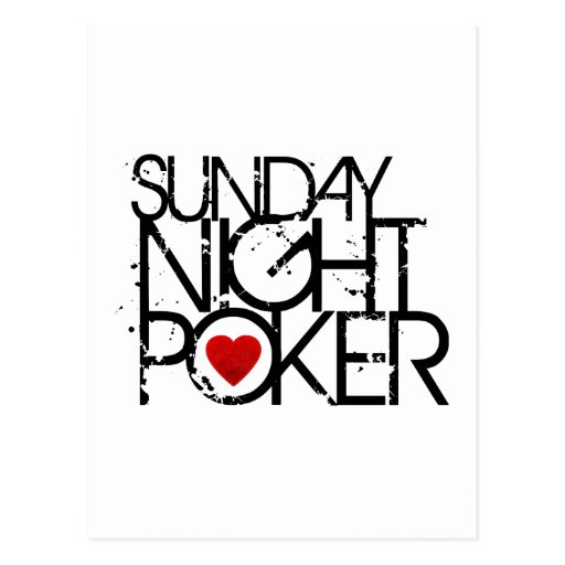 Sunday Night Poker Postcard