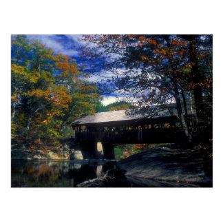 Sunday River Artists Covered Bridge Maine Postcard