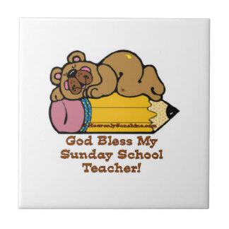 Sunday School Teacher Pencil Tile