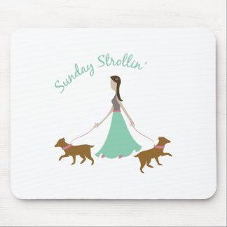 Sunday Strollin Mousepads