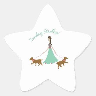 Sunday Strollin Star Stickers