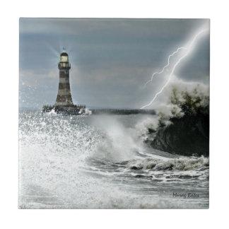 Sunderland - Roker Pier & Lighthouse Ceramic Tile