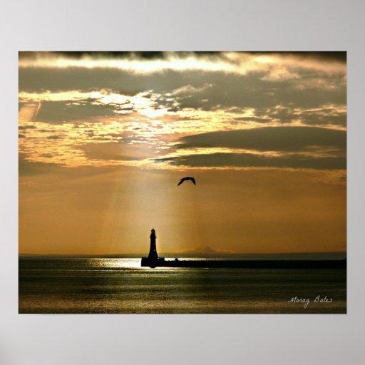 Sunderland - Roker Pier & Lighthouse Poster