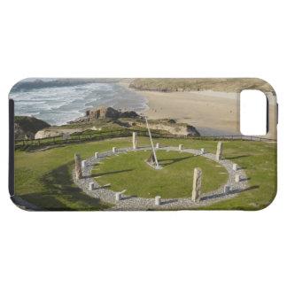 Sundial and Perran Beach, Perranporth, Cornwall, iPhone 5 Case