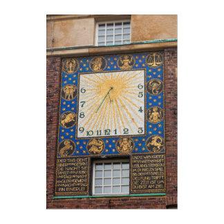 Sundial Clock On Building, Germany Acrylic Wall Art