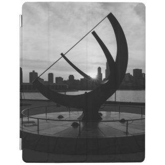 Sundial Sunset Grayscale iPad Cover