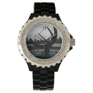 Sundial Sunset Grayscale Watches