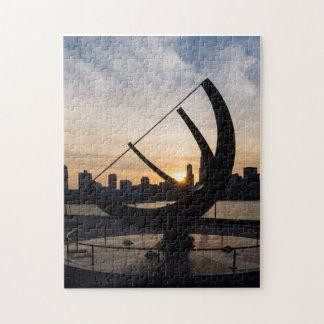 Sundial Sunset Jigsaw Puzzle