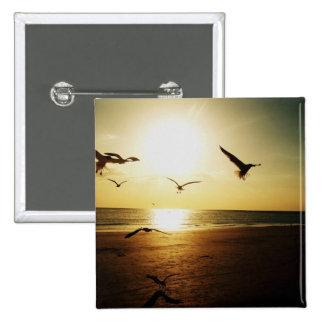 Sundown 15 Cm Square Badge