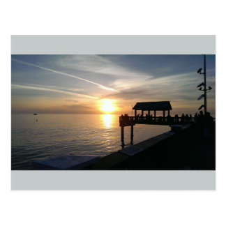 Sundown at the Pier Postcard