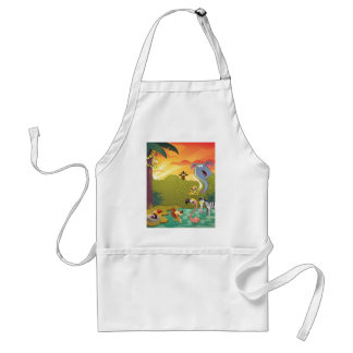 Sundown At The Water Hole Adult Apron