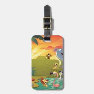 Sundown At The Water Hole Luggage Tag