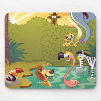 Sundown At The Water Hole Mouse Pad