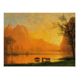 Sundown at Yosmite Poster